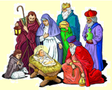 Picture of Wise men visiting crib