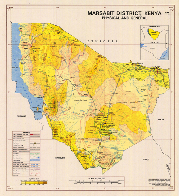 Map of the Marsabit area of Kenya